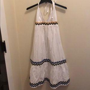 NWT ASOS WHITE HALTER FLOWY DRESS!